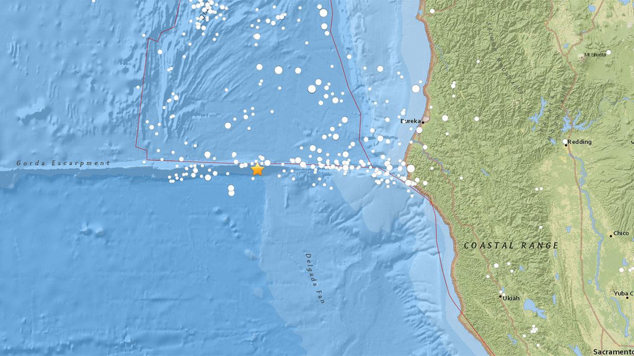 A 6.5-magnitude earthquake struck about 100 miles off the coast of Northern California on Thursday, Dec. 8, 2016.