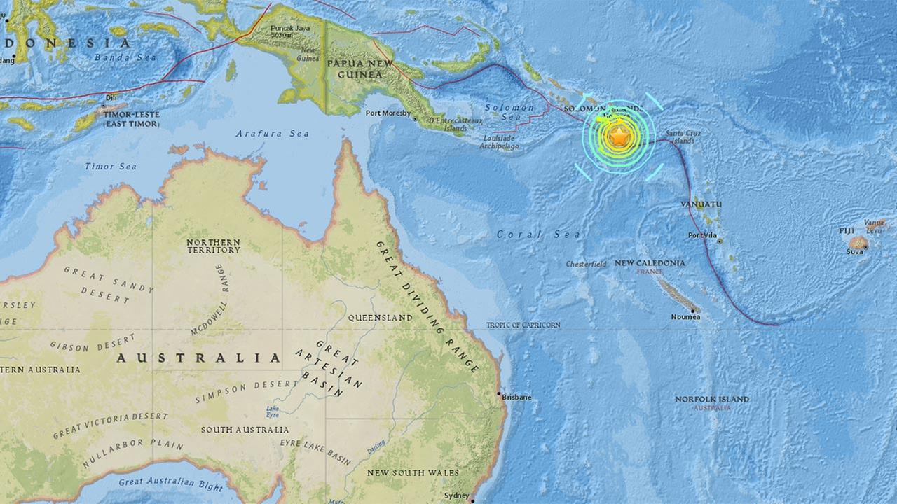 A 7.7-magnitude earthquake struck near the Solomon Islands on Thursday, Dec. 8, 2016.