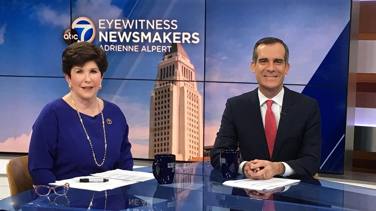 Mayor Eric Garcetti appears on Eyewitness Newsmakers with Adrienne Alpert.