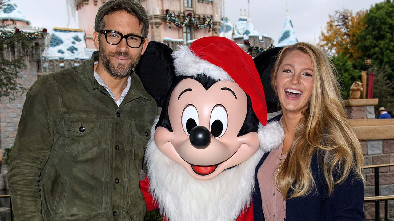 Actor Ryan Reynolds and his wife, actress Blake Lively, celebrate the holidays at Disneyland in Anaheim on Friday, Dec. 16, 2016.Richard Harbaugh/Disneyland Resort