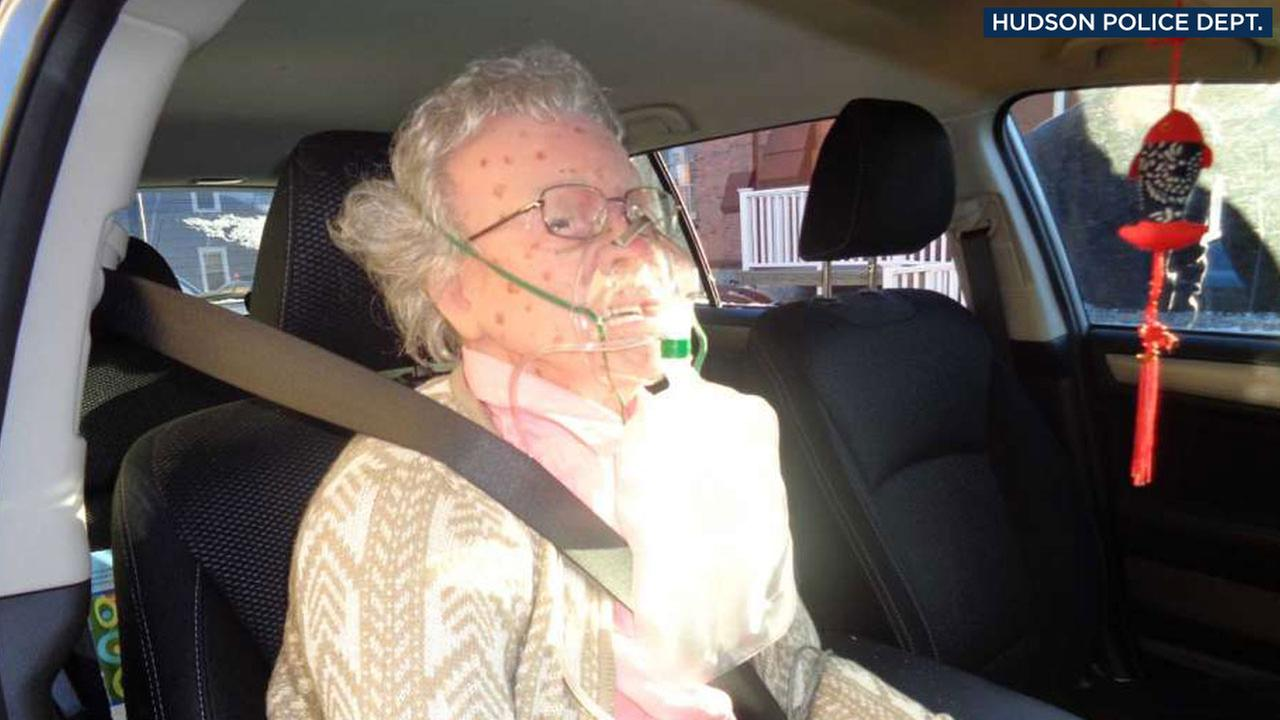 A mannequin that looked like an elderly woman fooled Hudson Police Department officers in New York, causing them to break a car window to save her on Friday, Dec. 16, 2016.