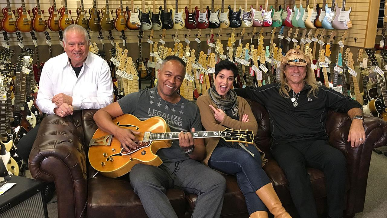 Tom Petty, Dave Grohl, Ritchie Sambora, Adam Levine and Melissa Etheridge at Normans Rare Guitars with Eye on L.A.s Tina Malave.