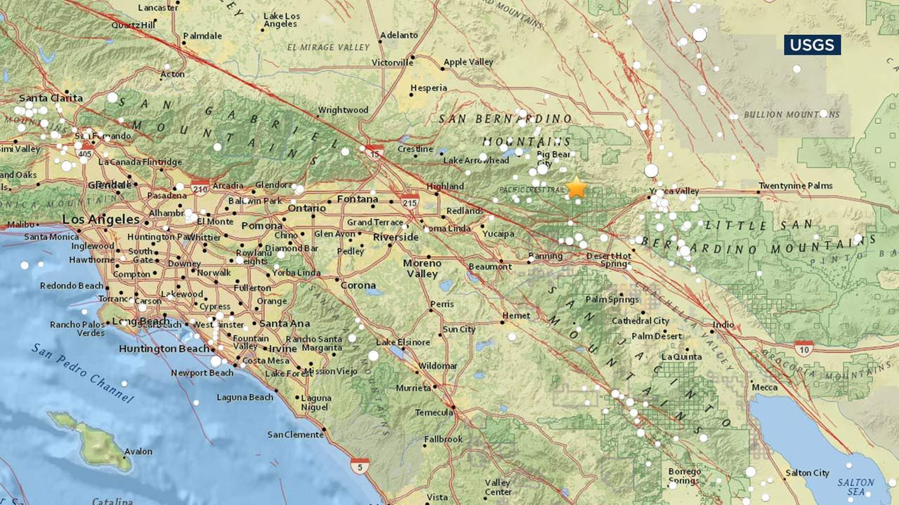 Magnitude Earthquake Hits Morongo Valley Abccom - Us earthquake map