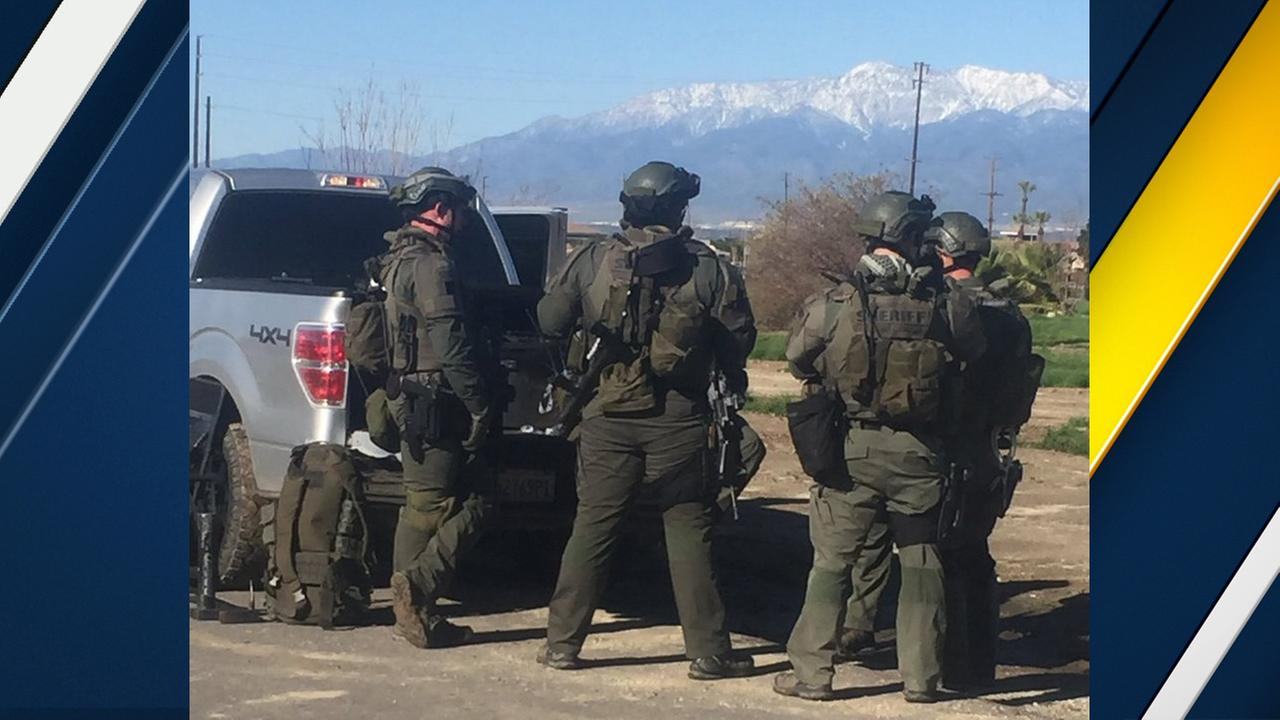 San Bernardino County sheriffs deputies responded to a barricade situation at a home in Loma Linda on Wednesday, De.c 28, 2016.