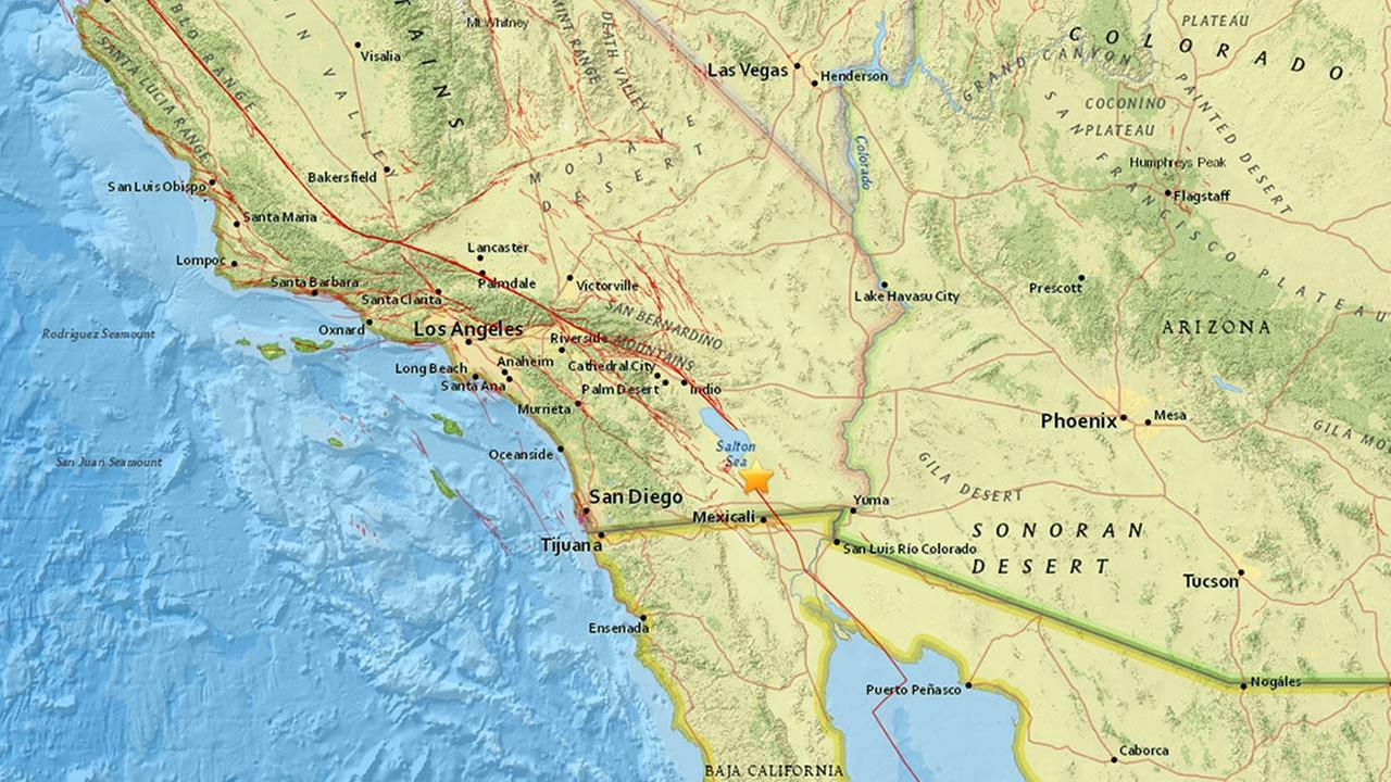 swarm of 100 small earthquakes hits near california mexico border