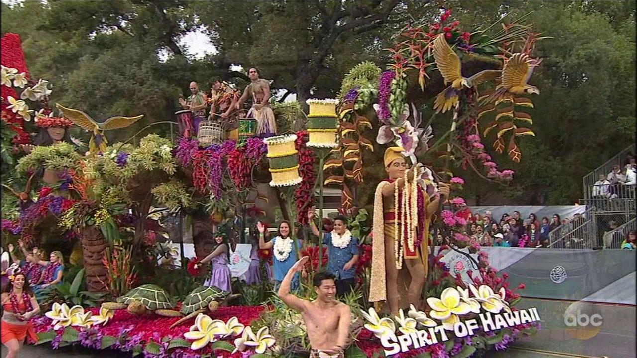 Dole Packaged Foods Spirit of Hawaii float, the Sweepstakes winner in the 2017 Rose Parade on Monday, Jan. 2, 2017.