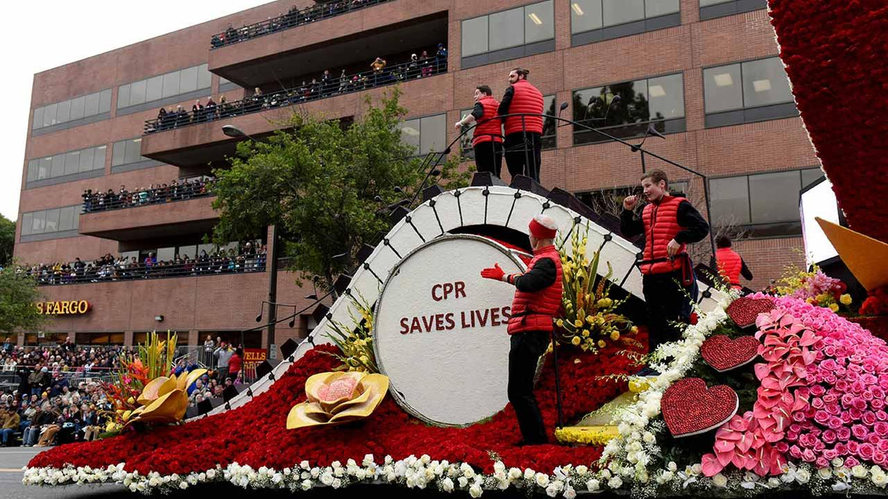 The Union Bank and the American Heart Association float, winner of Judges Special Trophy for most spectacular in showmanship and dramatic impact.AP Photo/Michael Owen Baker