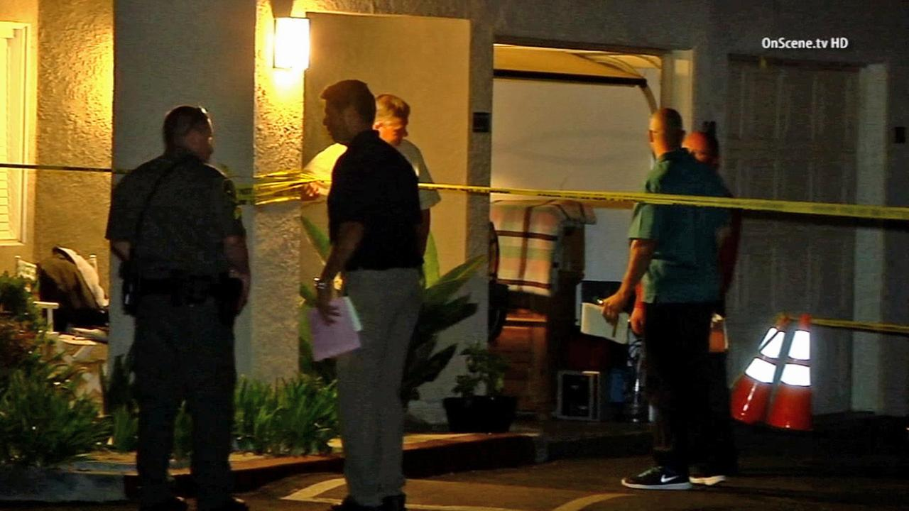 Investigators are called to the scene after a womans body was found at an apartment complex in Aliso Viejo on Monday, July 7, 2014.