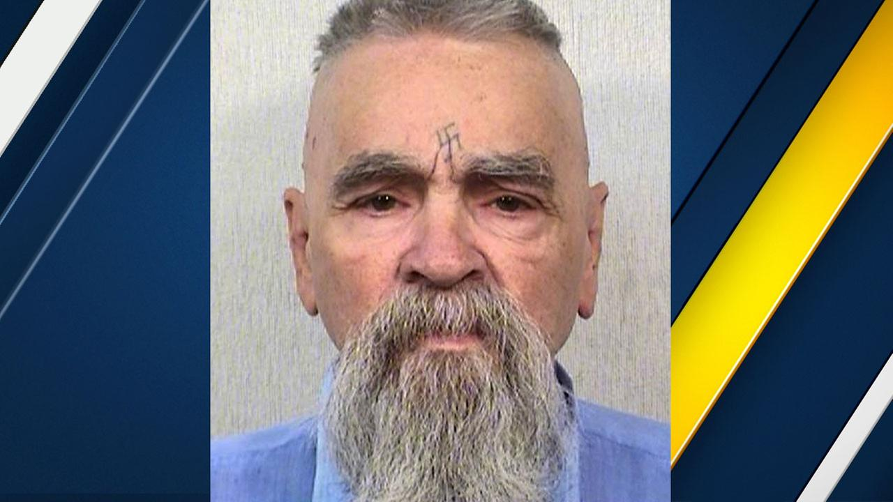 FILE - This Oct. 8, 2014 file photo provided by the California Department of Corrections and Rehabilitation shows serial killer Charles Manson.