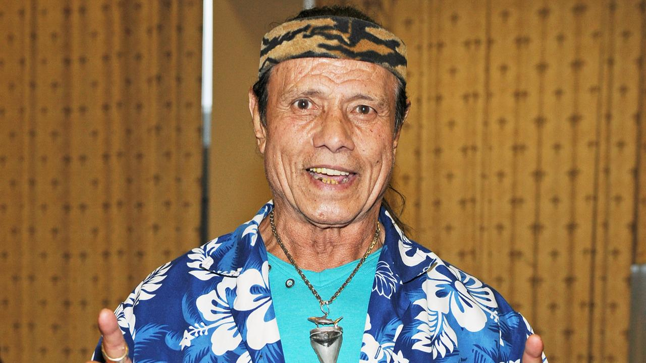 Jimmy Superfly Snuka appears at the Spooky Empire Mayhem Horror Convention at the DoubleTree Hotel on Saturday, May 31, 2014, in Orlando, Fla.