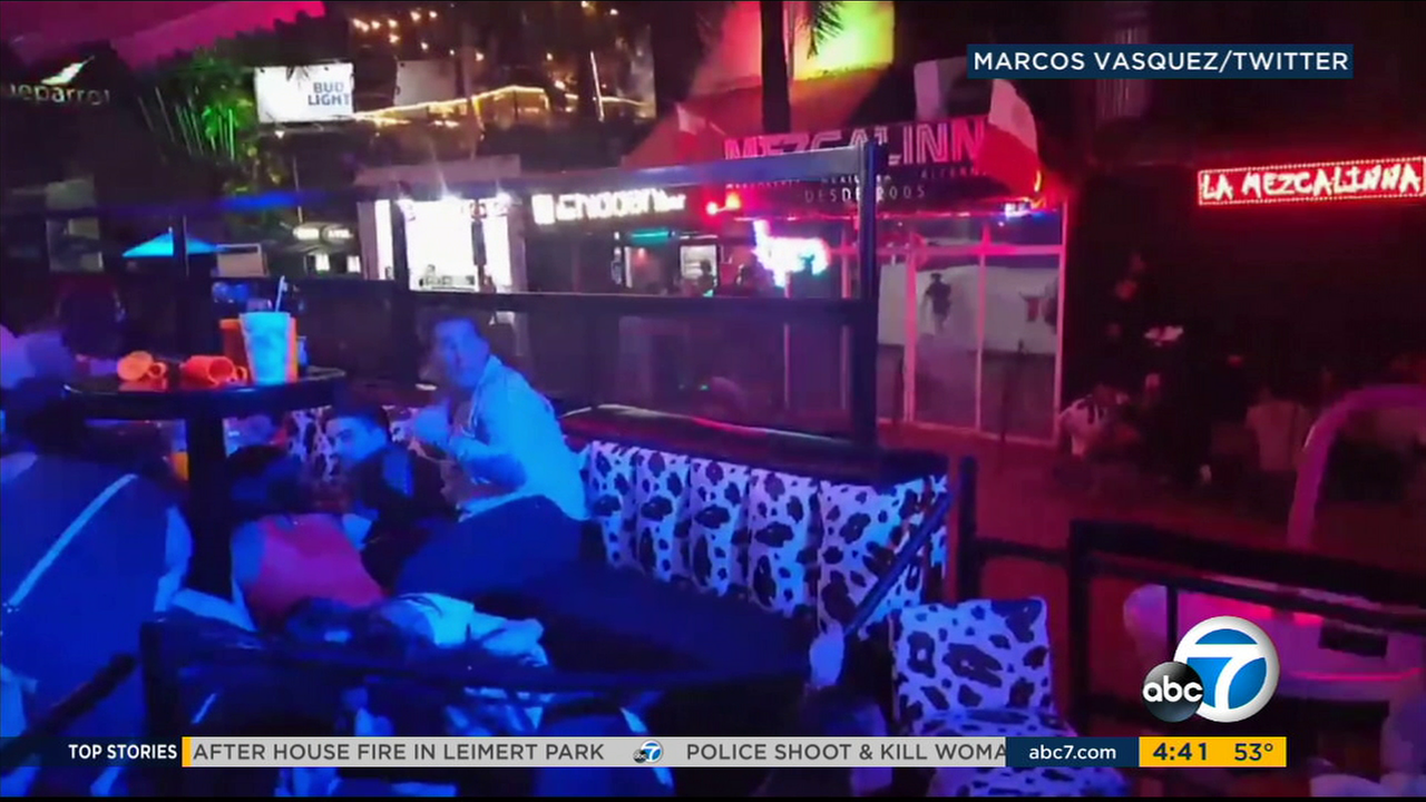 Video published on social media shows nightclub patrons cowering amid a fatal shooting in Playa del Carmen, Mexico.