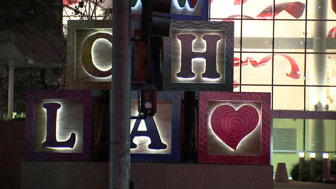 A sign outside of the Childrens Hospital Los Angeles is shown in a file photo.