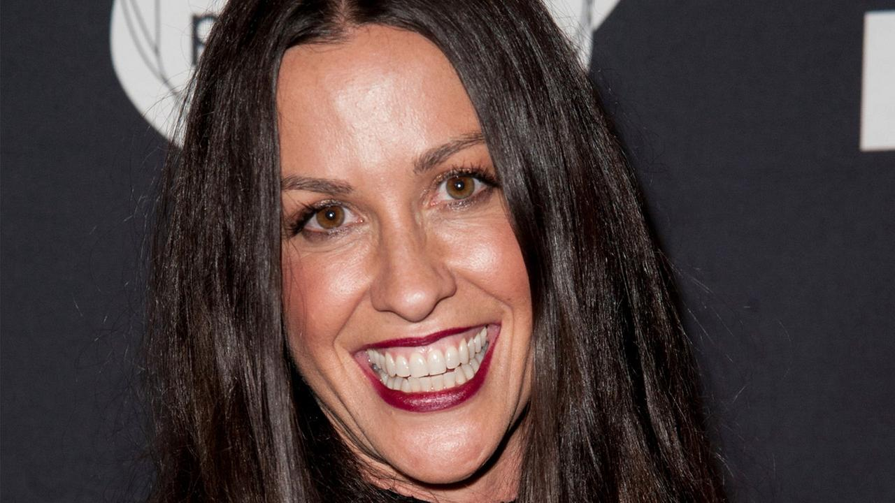 Alanis Morissette arrives at an after-party in Santa Monica in this June 20, 2014, file photo.