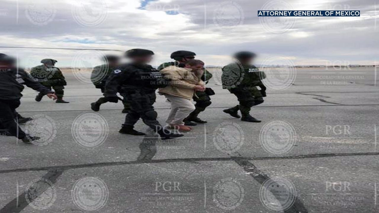 A photo provided by the Attorney General of Mexico shows drug lord Joaquin El Chapo Guzman been extradited to the United States.
