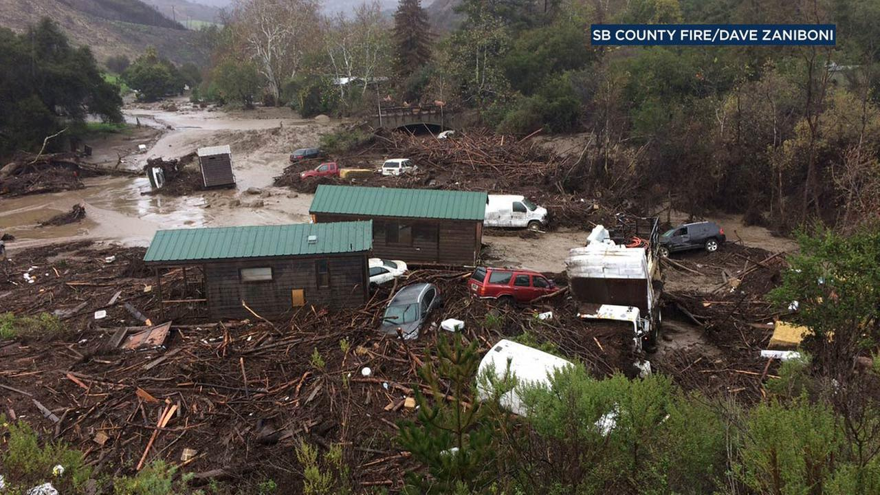 A severe storm caused massive flooding and debris flow at El Capitan Canyon in Santa Barbara County on Friday, Jan. 20, 2017.