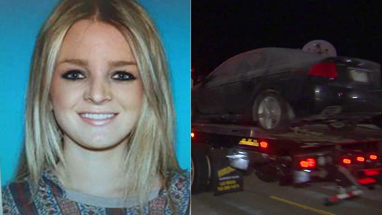 A car belonging to 28-year-old Laura Lynne Stacy, a missing Hollywood Hills woman, was found in a remote area of Lancaster on Tuesday, Jan. 24, 2017.