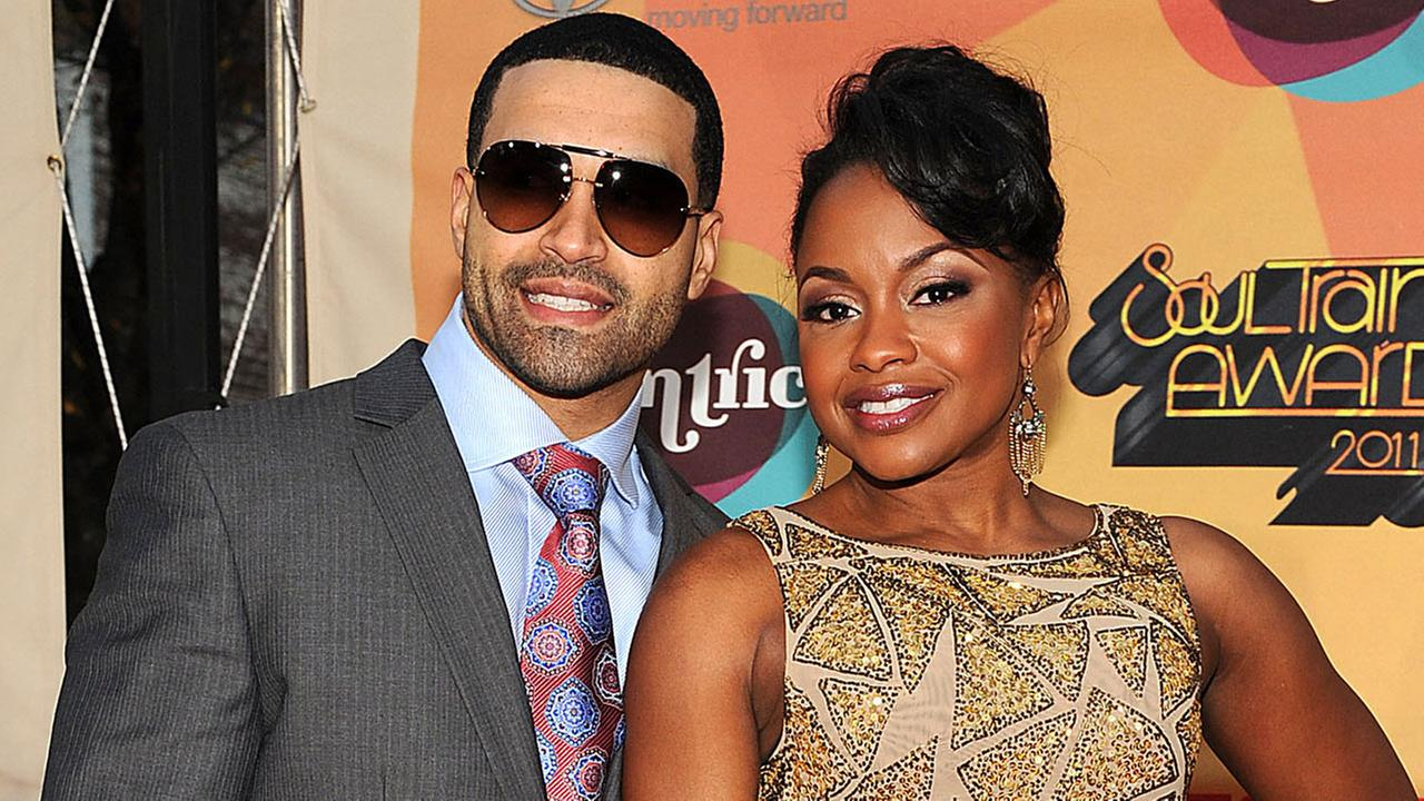 Phaedra Parks and Apollo Nida, from Real Housewives of Atlanta, arrive at Centrics 3rd Annual Soul Train Awards at the Fox Theatre, November 17, 2011 in Atlanta, Georgia.