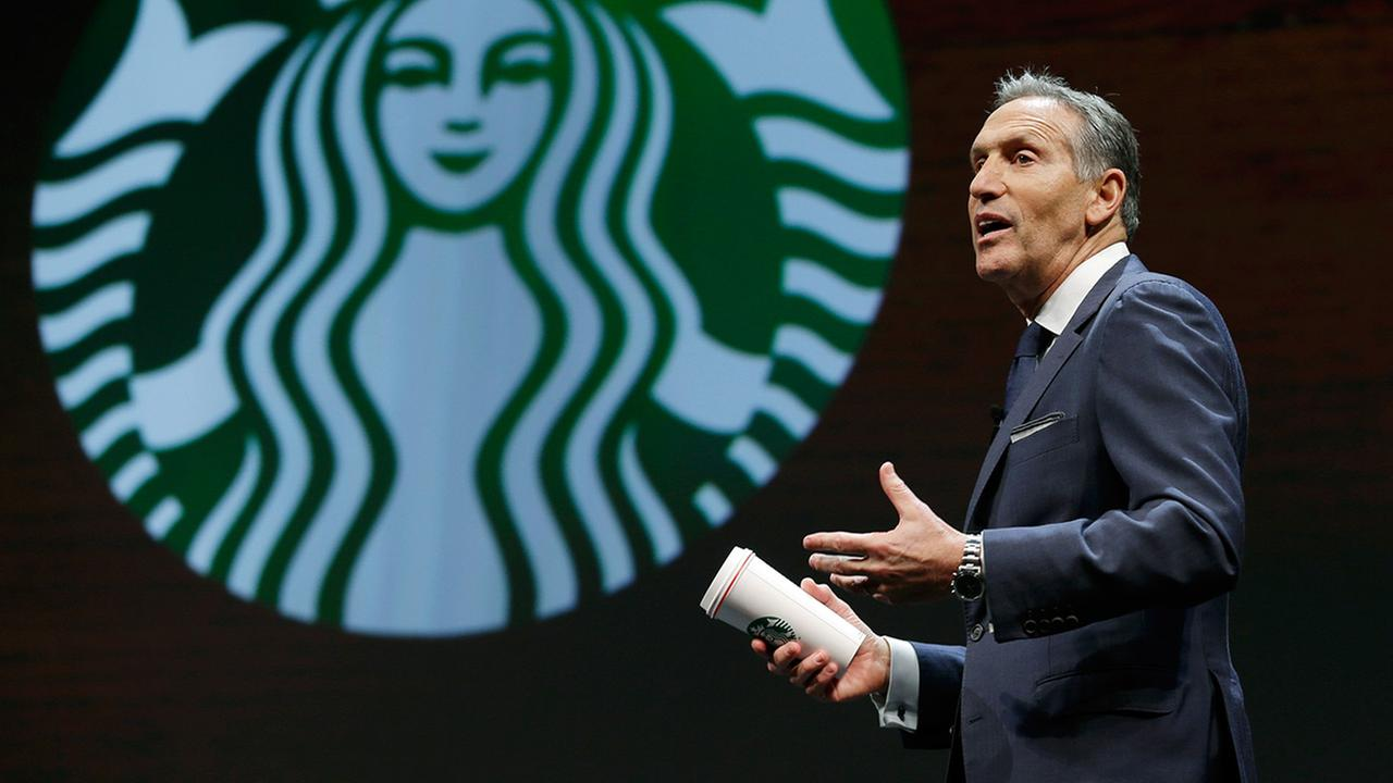 Starbucks is sliding after Howard Schultz steps down as chairman