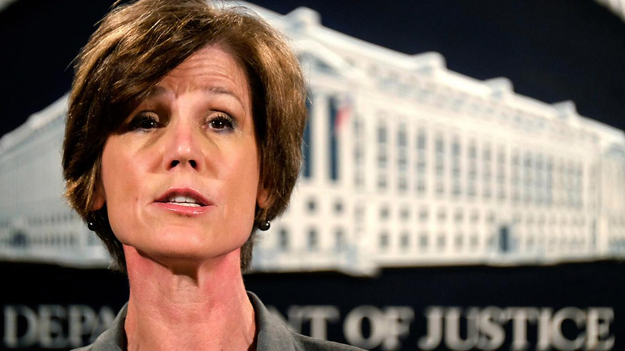 In this June 28, 2016 file photo, Deputy Attorney General Sally Yates speaks during a news conference at the Justice Department in Washington.
