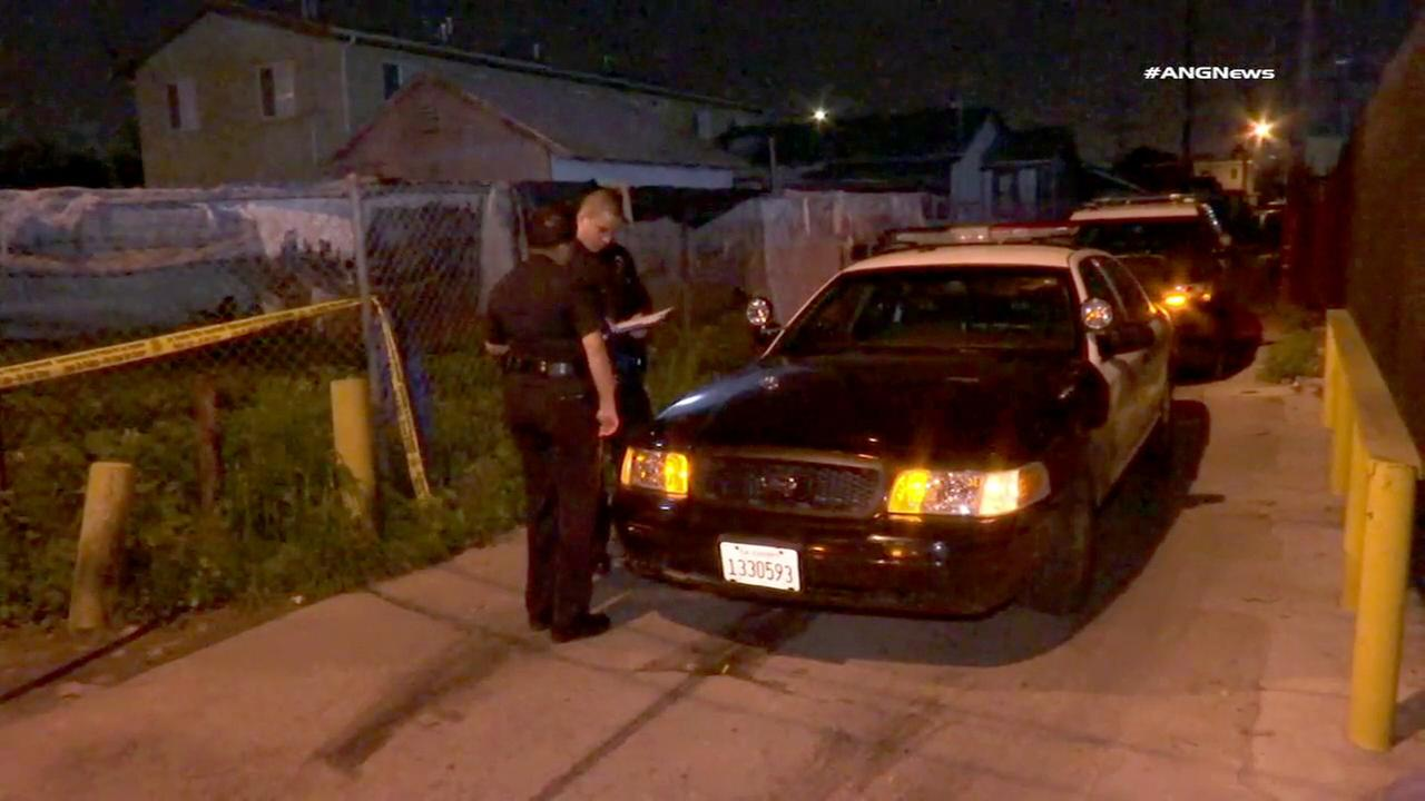Los Angeles Police Department officers conducted an investigation at the scene of a shooting that took place Tuesday, Jan. 31, 2017.