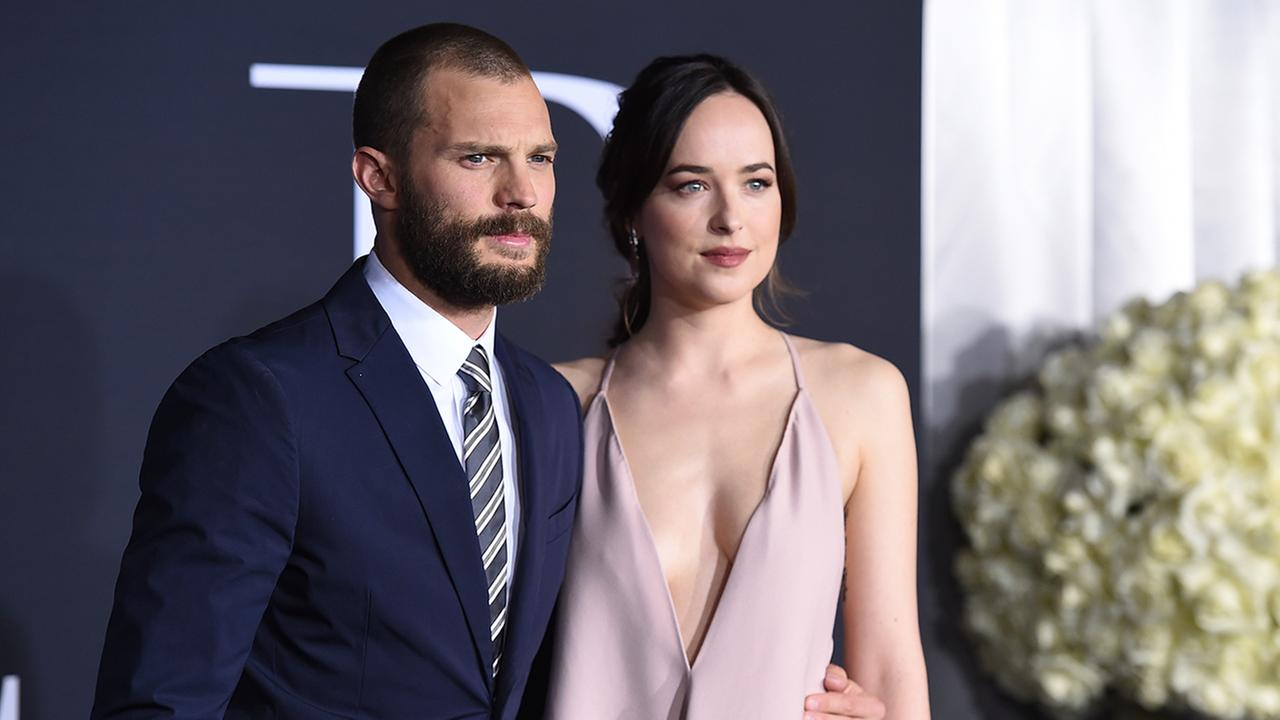 Stars Dakota Johnson and Jamie Dornan attended the Fifty Shades Darker premiere at the Ace Hotel in downtown Los Angeles.
