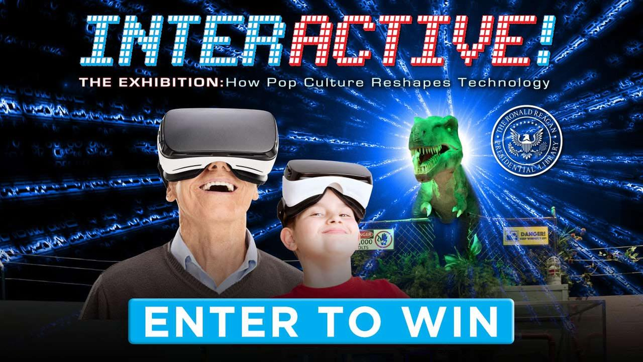 Enter for a chance to win tickets to the Reagan Library's Interactive! The Exhibition