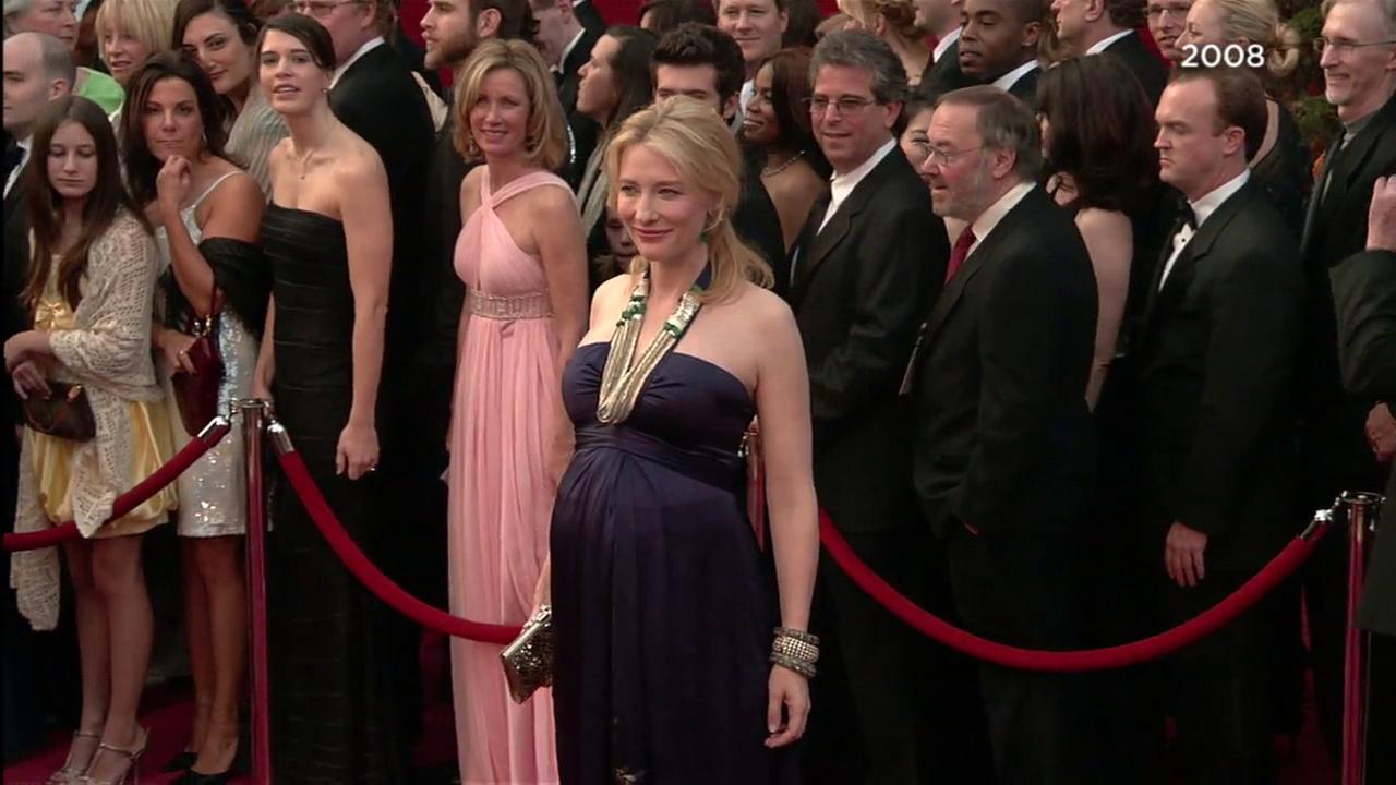 Actress Cate Blanchett is seen on the red carpet at the Academy Awards in 2008.