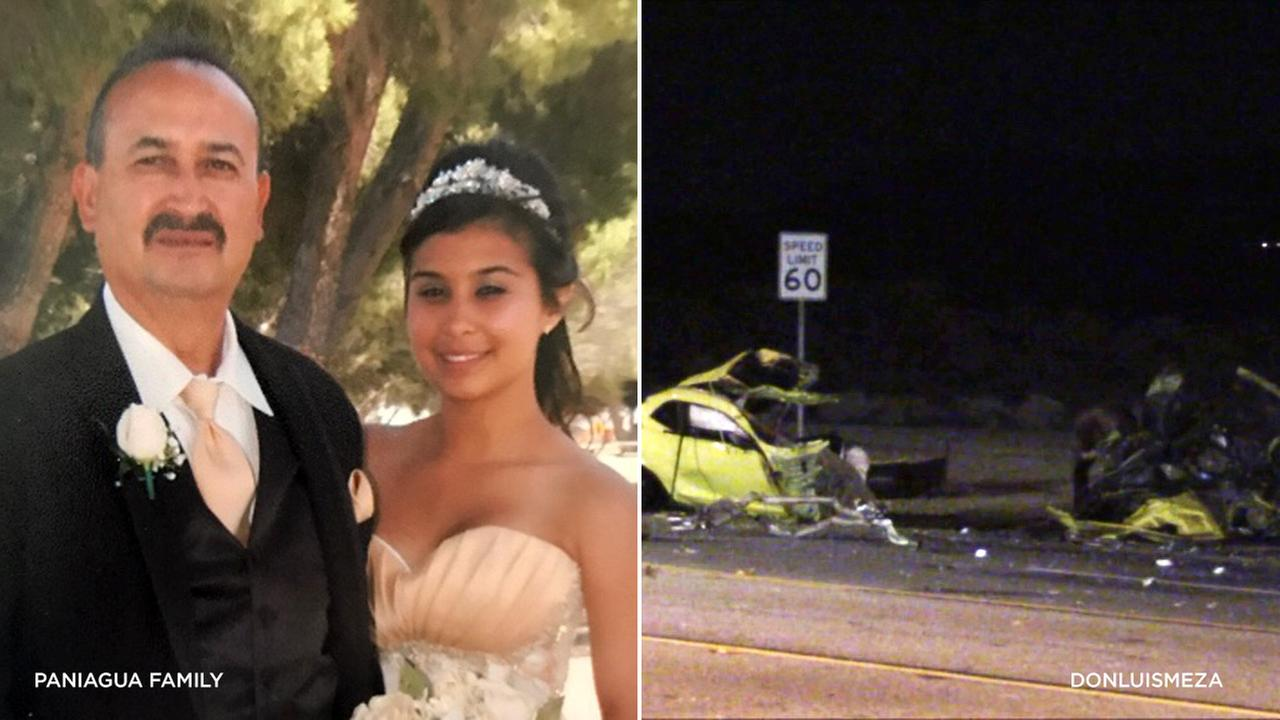Family members identified the victims of a deadly crash in Palmdale as Vanessa and Manny Paniagua.