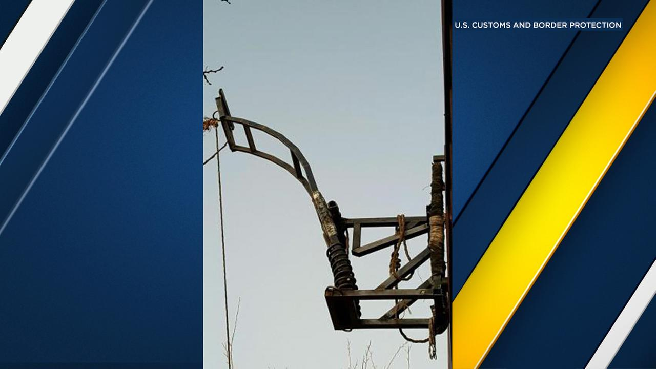 U.S. Customs and Border Protection said a catapult used to launch drugs over the United States-Mexico border near Douglas, Ariz., was found on Friday, Feb. 10, 2017.