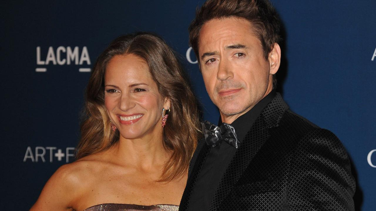 Susan Downey and Robert Downey Jr. arrive at the LACMA Art + Film Gala on Saturday, Nov. 2, 2013 in Los Angeles.