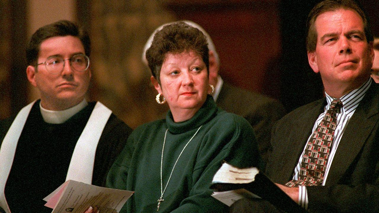 Norma McCorvey during a memorial service at Georgetown University in Washington, D.C. Sunday, Jan. 21, 1996.