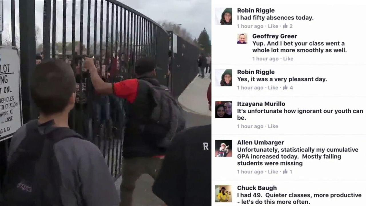 Some faculty members at Rubidoux High School in Jurupa Valley mocked students who participated in the A Day Without Immigrants protest.