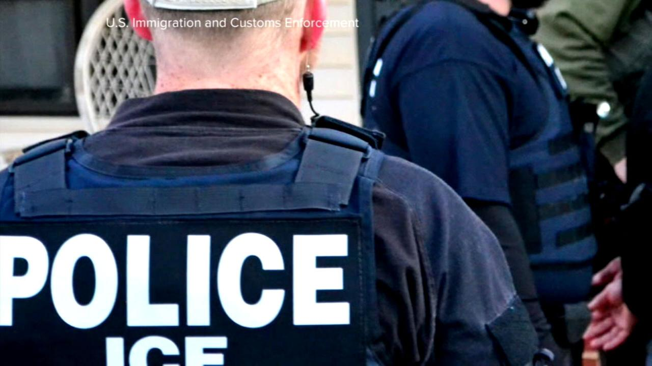 Agents from the U.S. Immigration and Customs Enforcement agency are seen in this undated file photo provided by ICE.