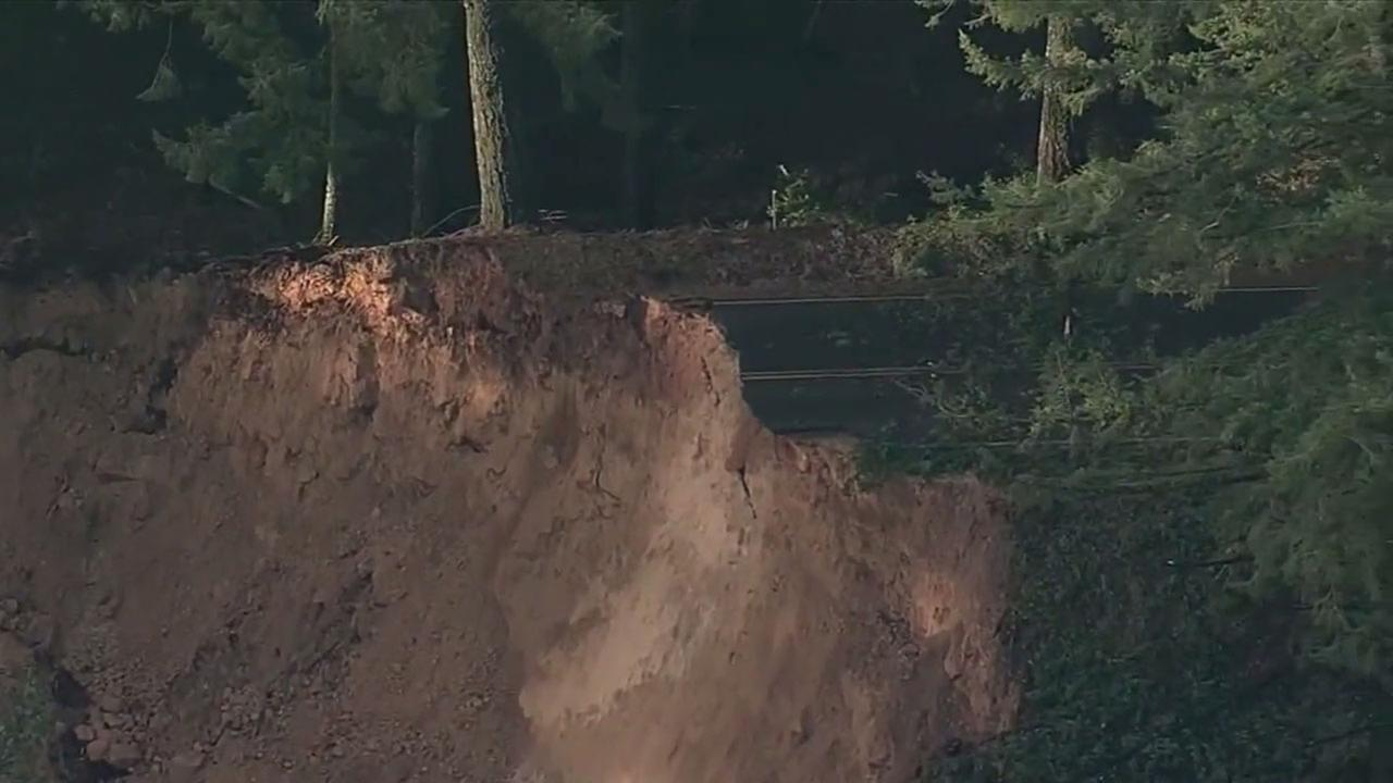 This winters storms have eroded roads throughout California.