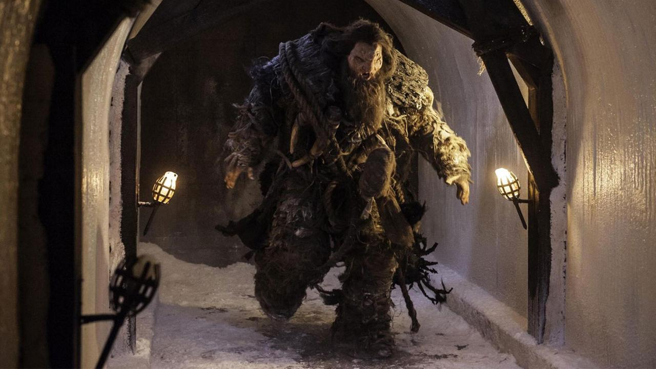 Neil Fingleton, a 7-foot 7-inch actor who played the giant Mag the Mighty in Game of Thrones, is shown in a still from the show.