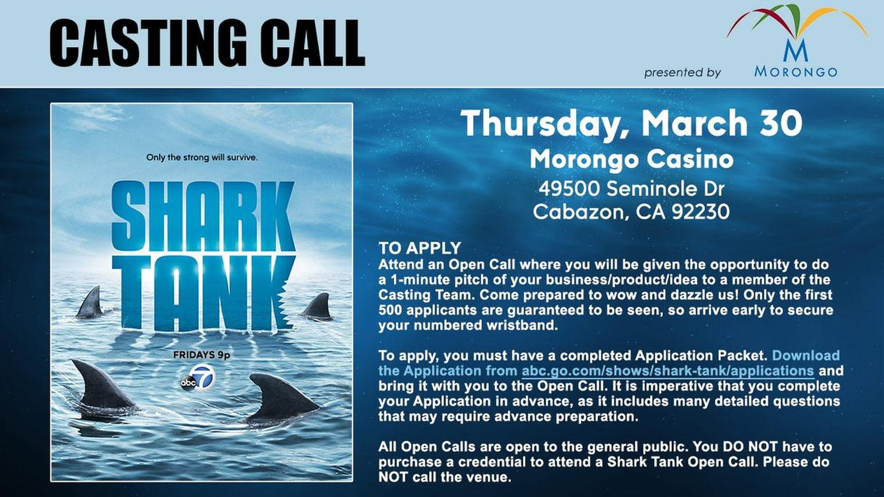 "Attend a ""Shark Tank"" open call in Cabazon!"