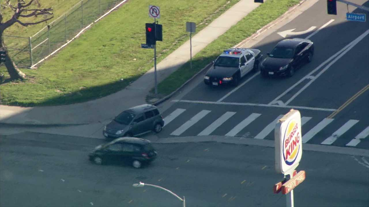 Carjacking suspect leads police on slow-speed chase through Los Angeles County