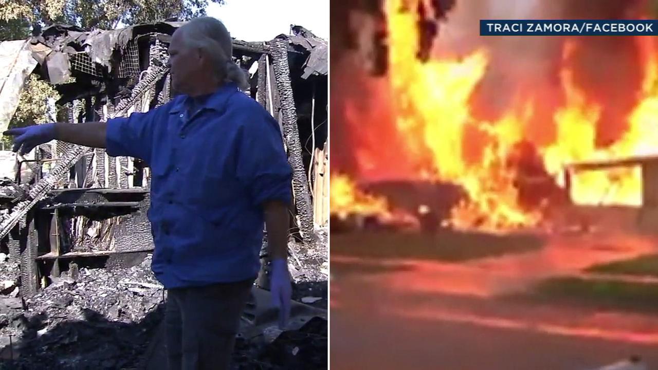 Man recalls plane crashing into his Riverside home