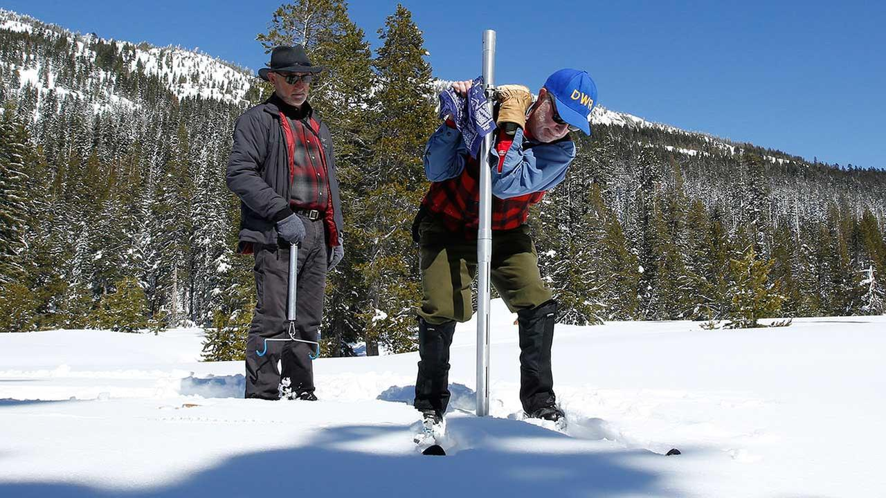 California drought: Snowpack is nearly double normal level