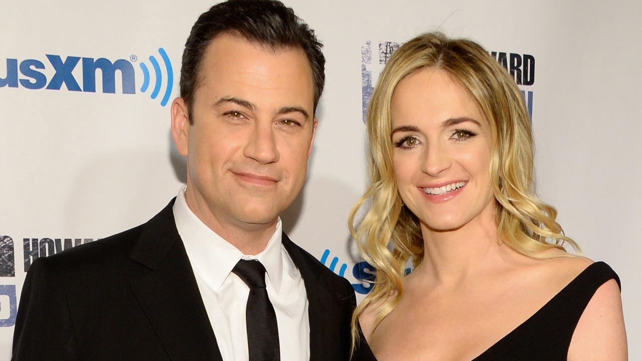 Talk show host Jimmy Kimmel and wife Molly McNearney attend Howard Sterns Birthday Bash on Jan. 31, 2014.