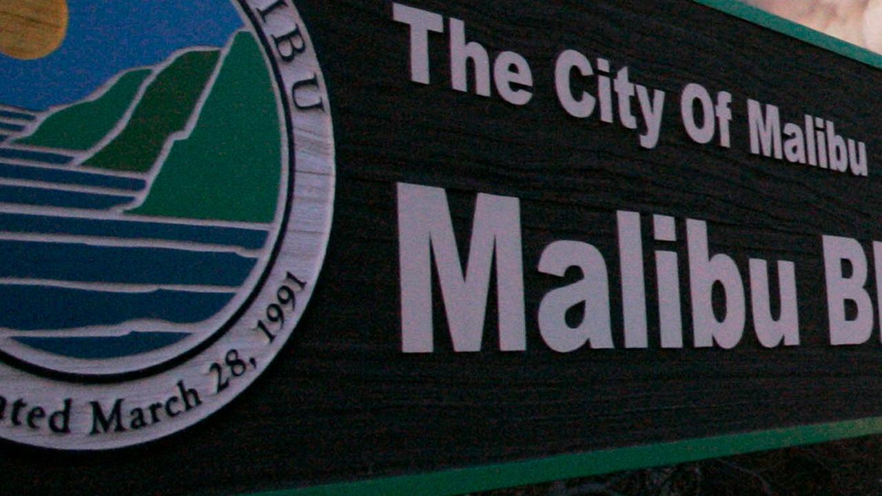 A sign at Malibu Bluffs Park is seen in a file photo.