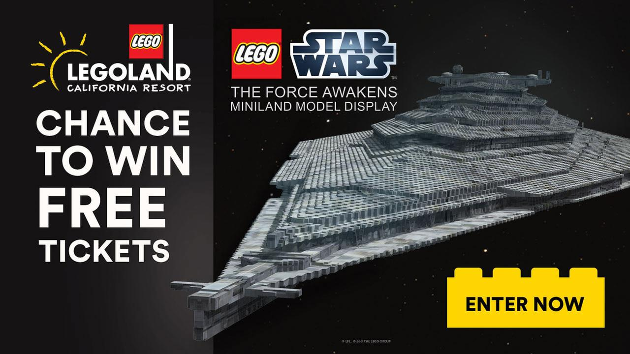 Enter for chance to win tickets to LEGOLAND California Resort to experience new LEGO® Star Wars: The Force Awakens Miniland Model Display