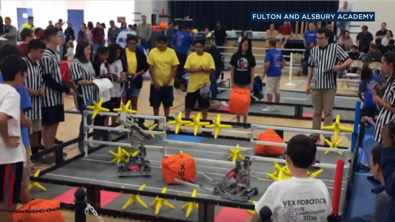 The robotics team from Fulton and Alsbury Academy of Arts will compete in the VEX World Championship.