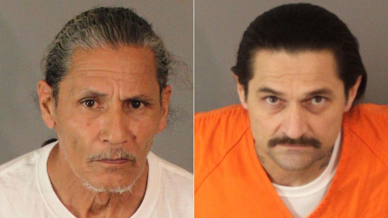 Suspects Alex Grajeda (left) and Manuel Quiroz (right) were arrested in Riverside for a variety of charges related to drugs and guns.