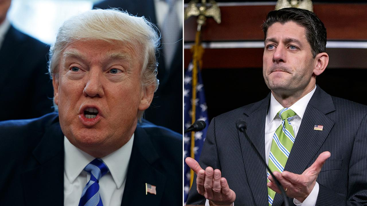 President Donald Trump (left) and House Speaker Paul Ryan (right).