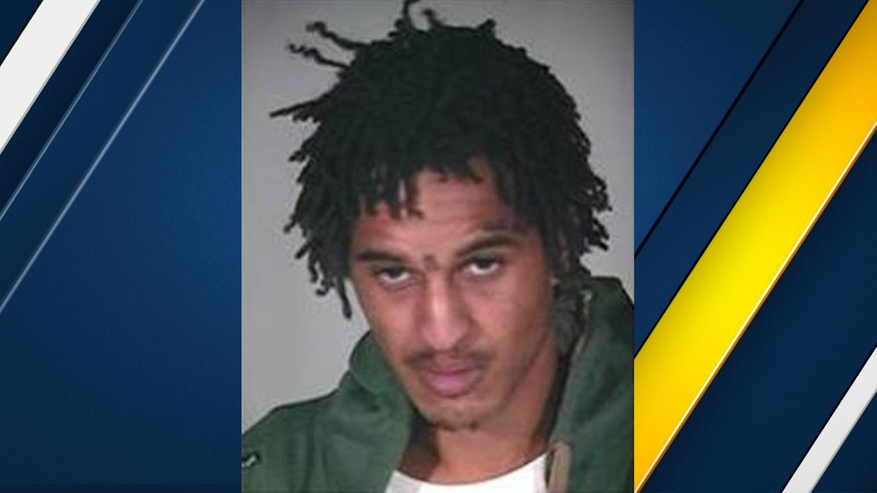 Charles Brown, 31, is seen in a  photo released by authorities after the arrestee escaped from police custody in Victorville on Sunday, March 26, 2017.