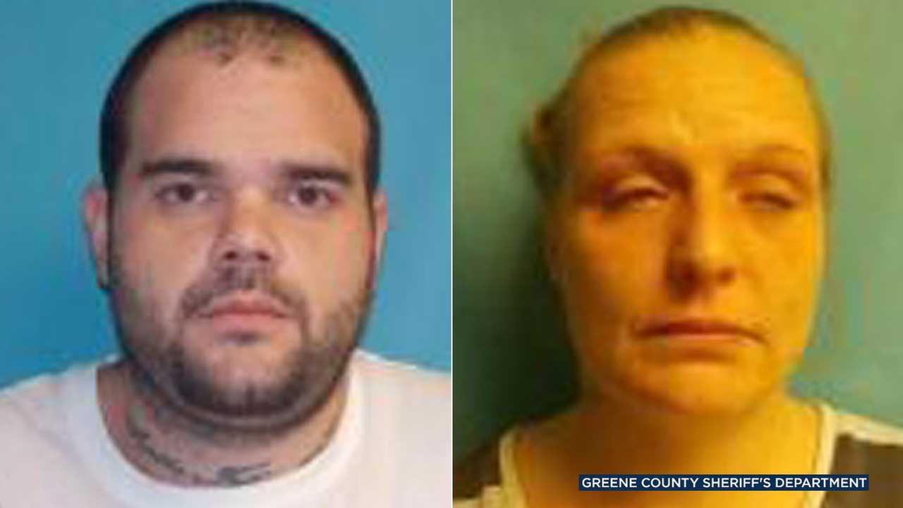 John David Cain and Deanna Lynn Greer are seen in photos from the Greene County Sheriffs Department.