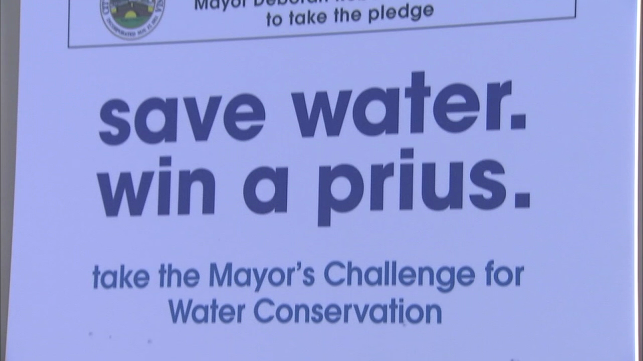 Students at Kelley Elementary in Rialto pledged to save water as part of a water conservation campaign.