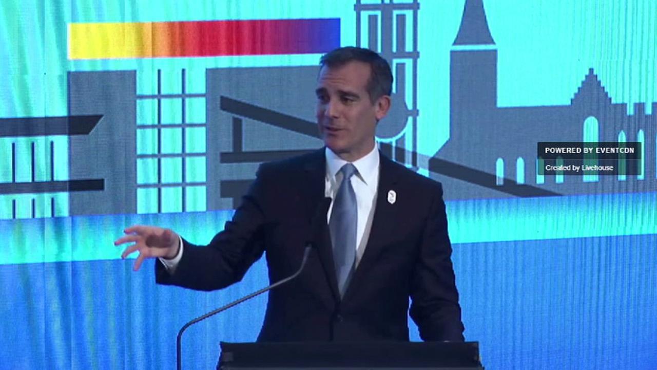 2024 Olympics: Garcetti, delegation make LA's case at IOC conference in Denmark