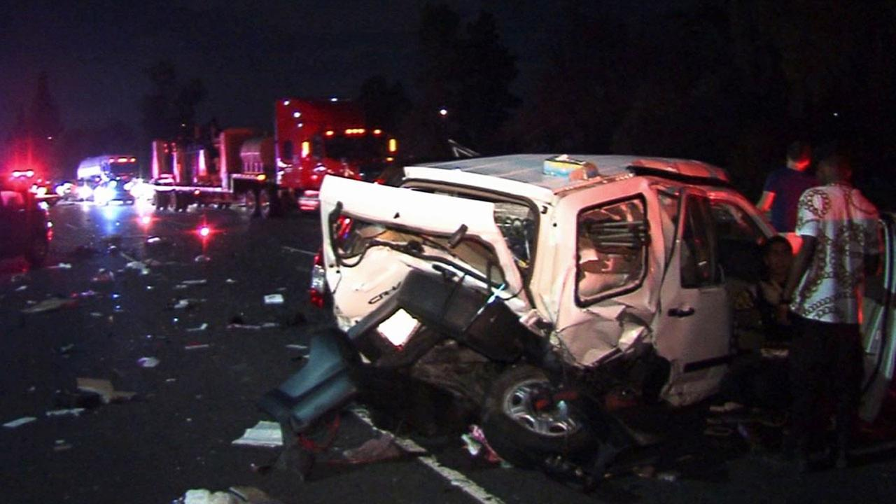 A hit-and-run crash occurred on the 101 Freeway in Sherman Oaks on Sunday, July 13, 2014.